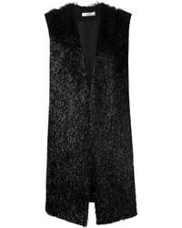Chaleco de Pelo Negro de Lanvin