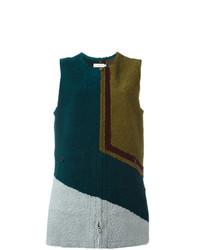 Chaleco de piel de oveja en multicolor de Tory Burch