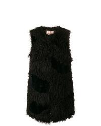 Chaleco de piel de oveja negro de Twin-Set