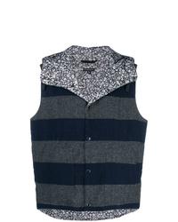 Chaleco de punto estampado azul marino de Engineered Garments