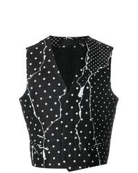 Chaleco de vestir a lunares en negro y blanco de Haider Ackermann