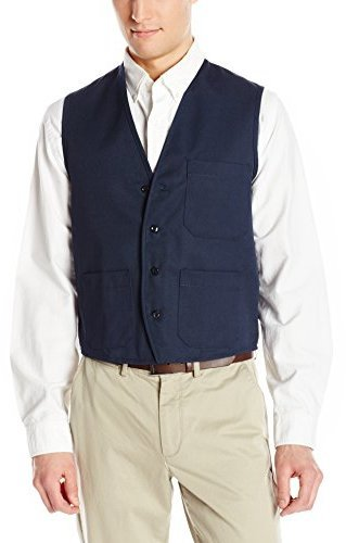 Chaleco de vestir azul marino de Chef Designs
