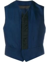 Chaleco de vestir azul marino de Haider Ackermann