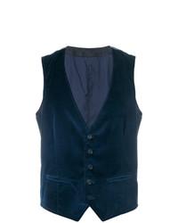 Chaleco de vestir azul marino de Weber + Weber