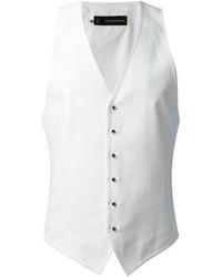 Chaleco de vestir blanco de DSquared