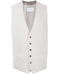 Chaleco de vestir de algodón blanco de ESTNATION