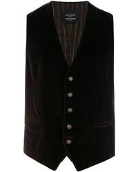 Chaleco de vestir de algodón en marrón oscuro de Tagliatore