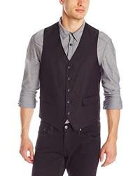 Chaleco de vestir de algodón negro