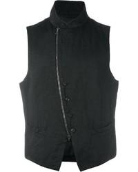 Chaleco de vestir de algodón negro de John Varvatos