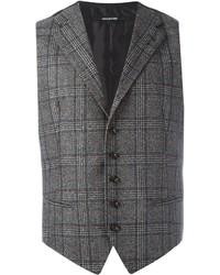 Chaleco de vestir de lana en gris oscuro de Tagliatore
