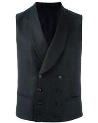 Chaleco de vestir de lana en gris oscuro de Z Zegna
