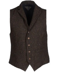 Chaleco de vestir de lana en marrón oscuro