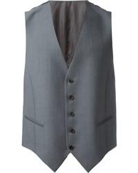 Chaleco de vestir de lana gris de Caruso