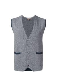 Chaleco de vestir de lana gris de N.Peal