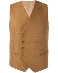 Chaleco de vestir de lana marrón claro de Tagliatore