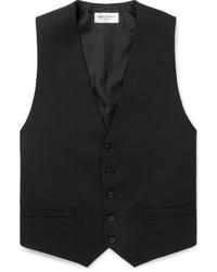 Chaleco de vestir de lana negro