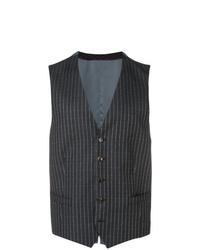 Chaleco de vestir de rayas verticales en gris oscuro de Gucci