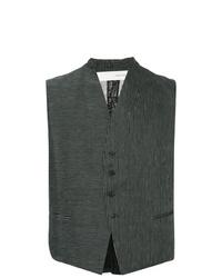 Chaleco de vestir de rayas verticales negro de Isabel Benenato