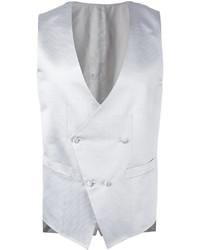Chaleco de vestir de seda blanco de Canali