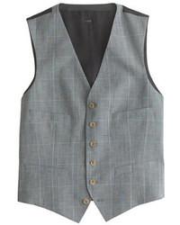Chaleco de vestir de tartán gris