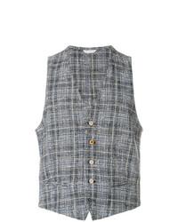 Chaleco de vestir de tartán gris de Manuel Ritz