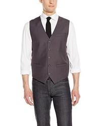 Chaleco de vestir en gris oscuro de Perry Ellis