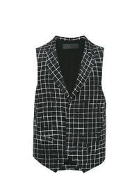 Chaleco de vestir en negro y blanco de Haider Ackermann
