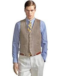 Chaleco de Vestir Marrón Claro de Brooks Brothers