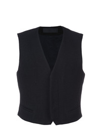 Chaleco de vestir negro de Haider Ackermann