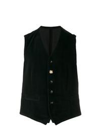 Chaleco de vestir negro de Lardini