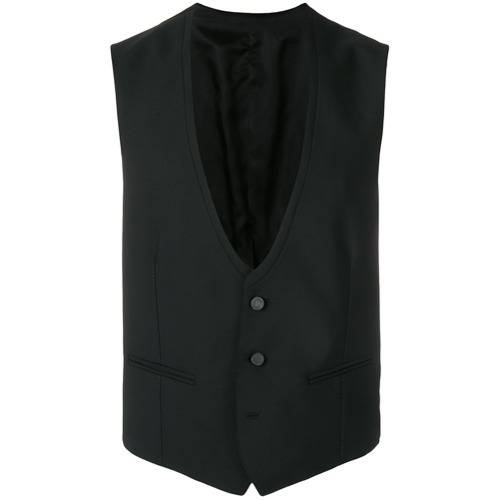 Chaleco de vestir negro de Tonello