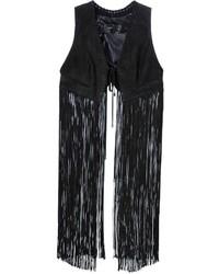 Chaleco Сon Flecos Negro de Plein Sud Jeans