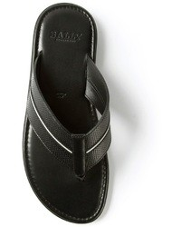 Chanclas negras de Bally