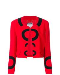 Chaqueta abierta roja de Moschino Vintage