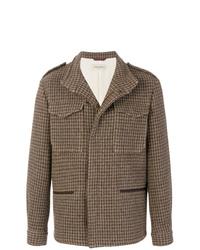 Chaqueta campo de lana marrón