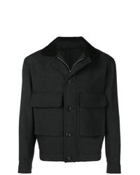 Chaqueta con cuello y botones en gris oscuro de Lemaire