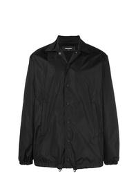Chaqueta con cuello y botones negra de DSQUARED2