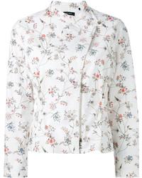 Chaqueta con print de flores blanca de Isabel Marant