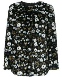 Chaqueta con print de flores negra de MICHAEL Michael Kors