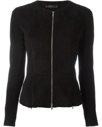 Chaqueta de Cuero Negra de The Row