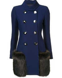 Chaqueta de lana azul marino de Derek Lam