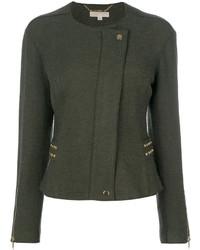 Chaqueta de lana con tachuelas verde oscuro de MICHAEL Michael Kors