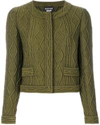 Chaqueta de lana verde oliva de Moschino