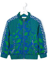 Chaqueta de paisley en verde azulado de Stella McCartney