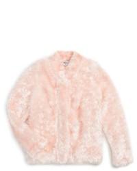 Chaqueta de pelo rosada