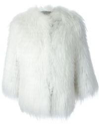 Chaqueta de Piel Blanca de Yves Salomon