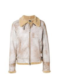 Chaqueta de piel de oveja en beige