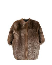 Chaqueta de piel marrón de Liska