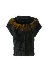 Chaqueta de piel negra de Yves Salomon