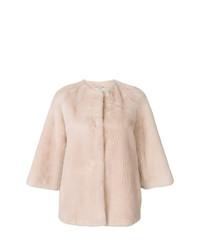 Chaqueta de piel rosada de Yves Salomon